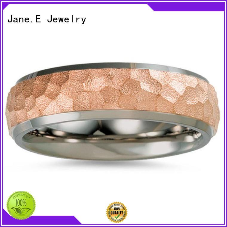 silver custom black titanium rings polished edge wholesale for anniversary
