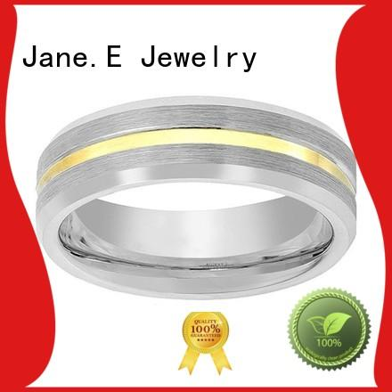 JaneE shiny polished tungsten ring matt for gift