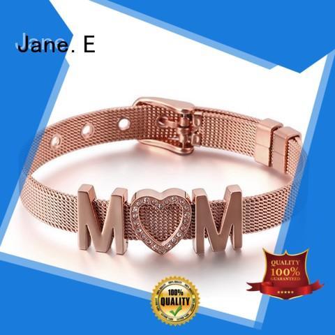 JaneE manual polished stainless steel bangle bracelets hot selling manufacturer
