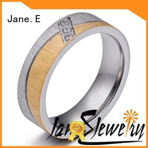 mens steel rings gunmetal for men JaneE