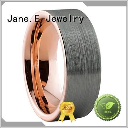 unique design mens gold tungsten wedding bands inlay brushed matt for wedding