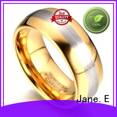 JaneE traditional tungsten carbide mens rings exquisite for wedding