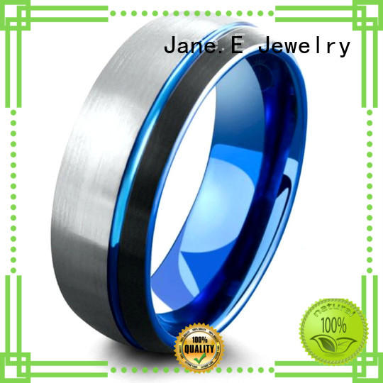 inlay brushed 6mm tungsten wedding bands exquisite for engagement JaneE