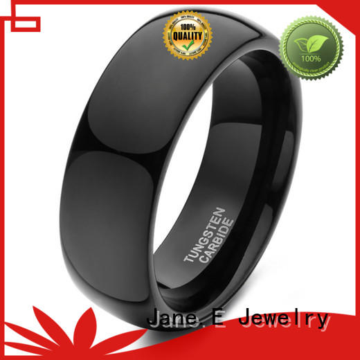 JaneE multi colors 6mm tungsten men's wedding band engraved for wedding