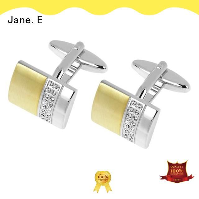JaneE silver engrave cufflinks fashion manufacturer