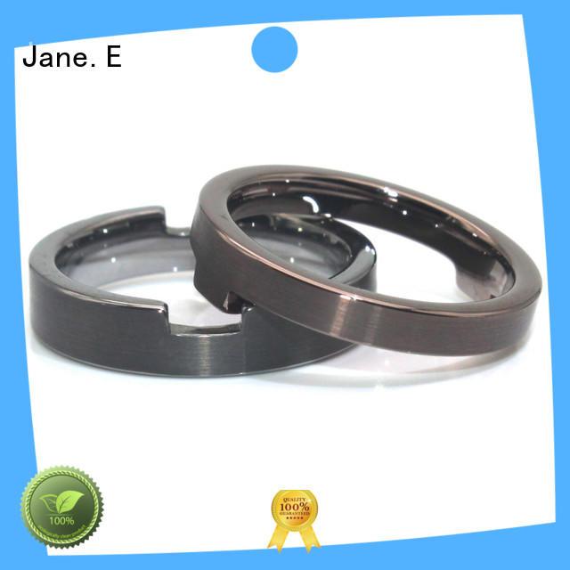 customized stainless steel mens wedding bands milgrain fashion design for weddings