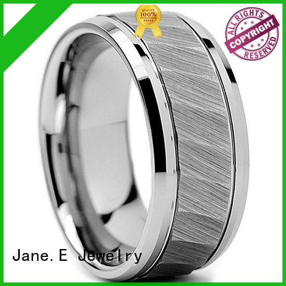 JaneE two tones tungsten rings for women matt for wedding