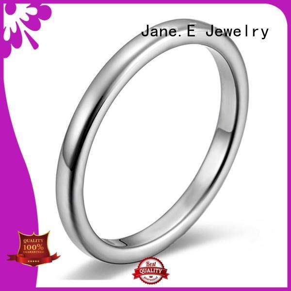 JaneE tungsten carbide custom rings multi colors for weddings