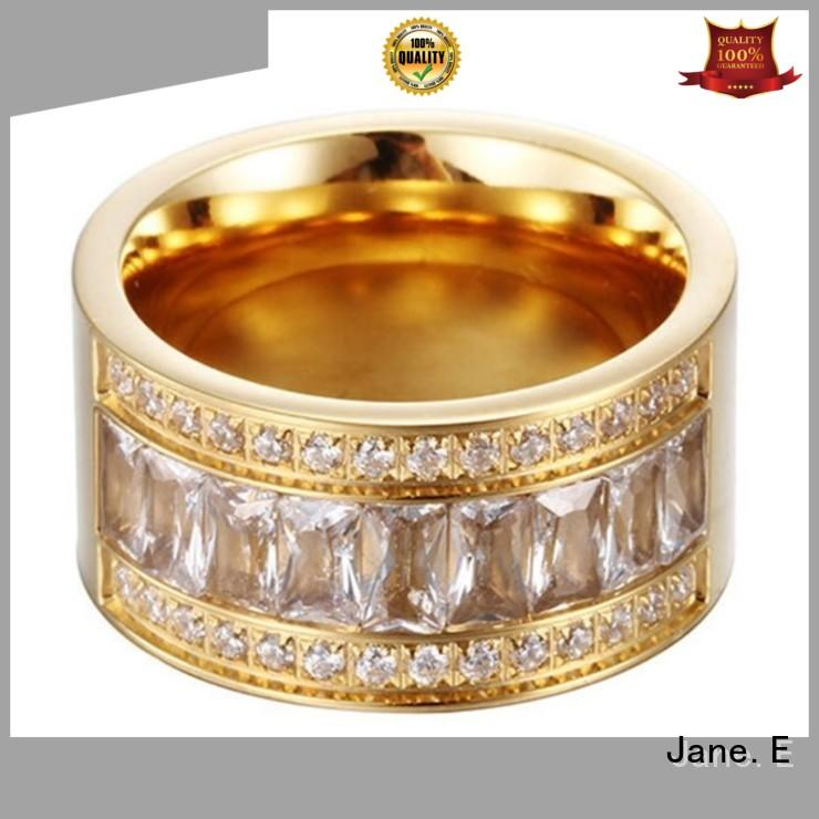 JaneE black stainless steel wedding bands comfortable for men