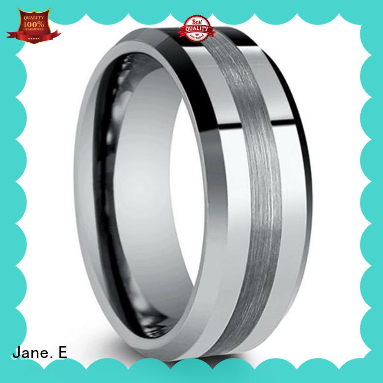 JaneE traditional tungsten promise rings red opal for gift
