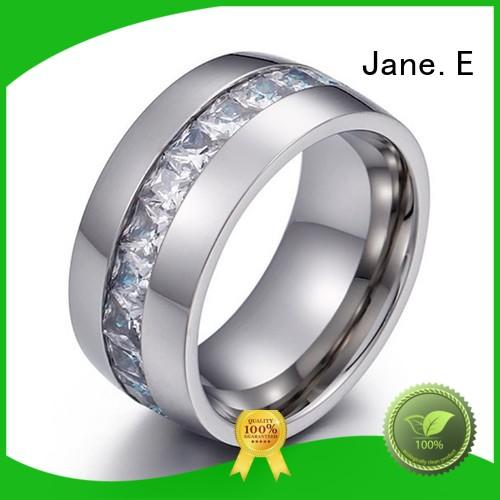JaneE rose gold stainless steel ring comfortable for men