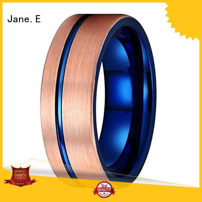 traditional mens tungsten wedding bands red opal matt for engagement