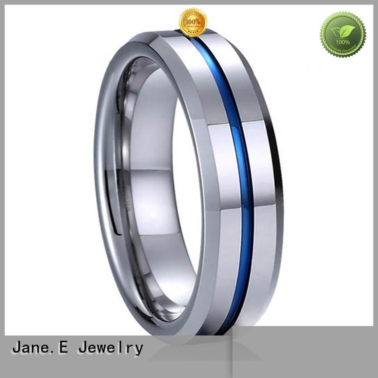 damascus texture cheap tungsten wedding bands meteorite for engagement JaneE