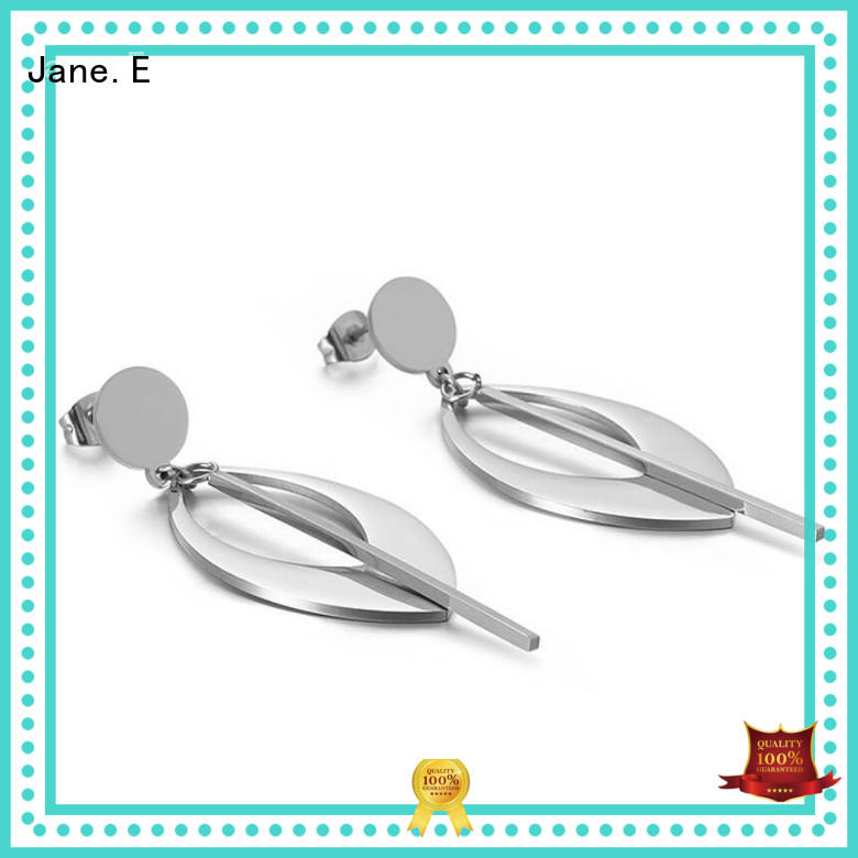 stylish stainless steel hoop earrings pendants OEM for decoration