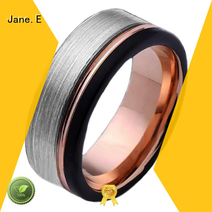 traditional tungsten rings for men meteorite exquisite for engagement