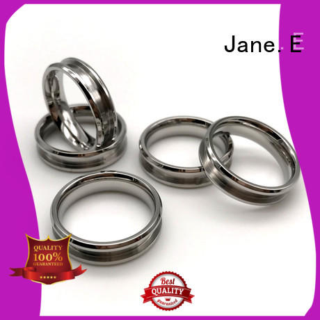 JaneE shiny stainless steel rose gold ring multi colors for weddings