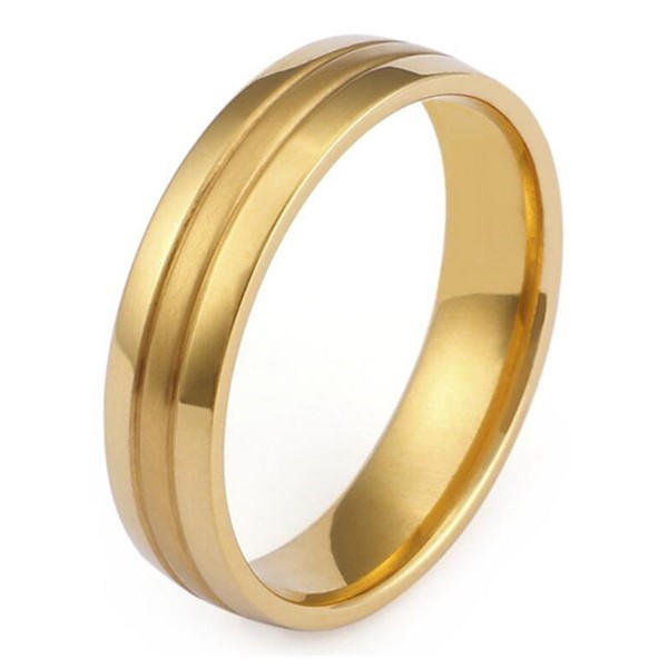 JaneE plating steel wedding rings comfortable for decoration-3