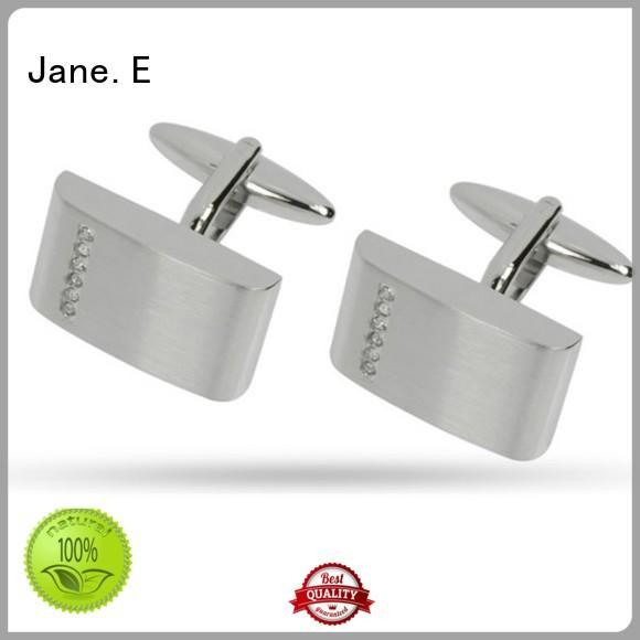 JaneE koa wood stainless steel cufflink for gifts