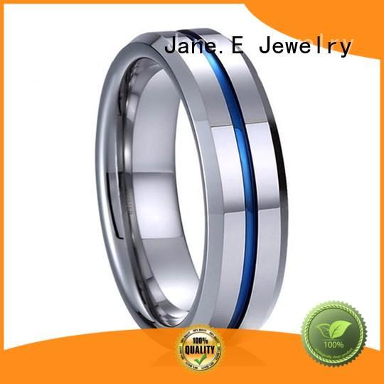 JaneE multi colors tungsten engagement rings matt for gift