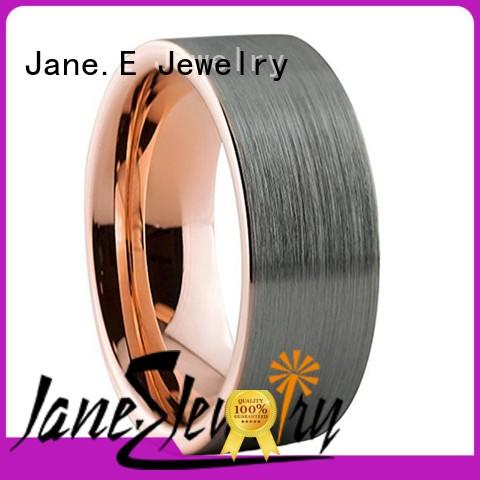 JaneE multi colors mens wedding rings tungsten exquisite for gift