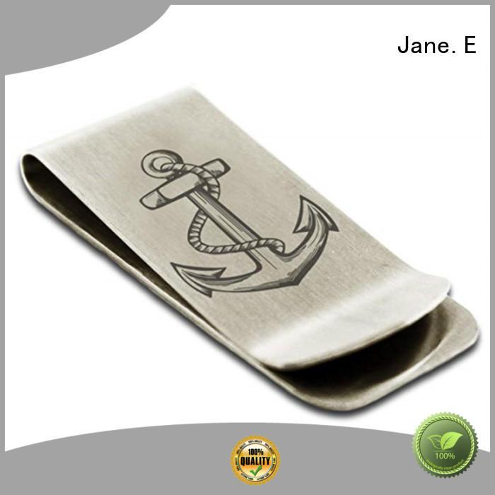 custom logo engraving personalized money clip plain adjustable for men's wallet