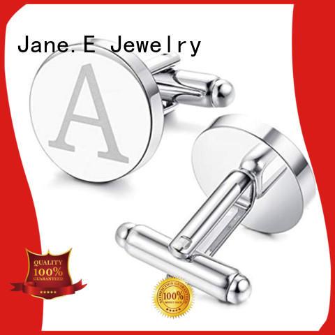 veneer engraved cufflinks manufacturer JaneE