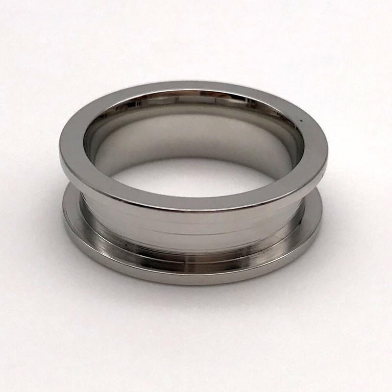 rose gold stainless steel ring blanks top quality for men JaneE-2