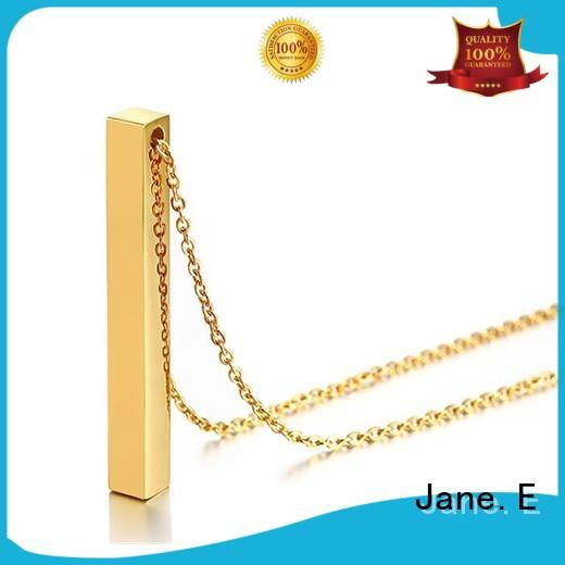 JaneE aromatherapy stainless steel necklaces wholesale factory direct for gift