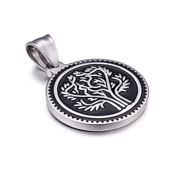 modern stainless steel engravable pendants manual polishing leather chain for festival gifts-2