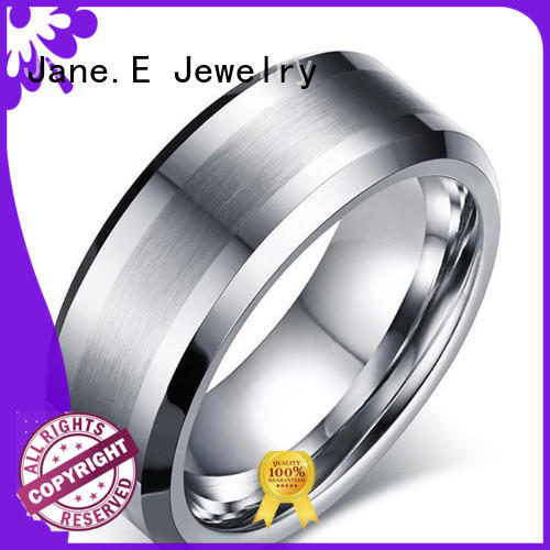 unique design black tungsten rings red opal engraved for wedding