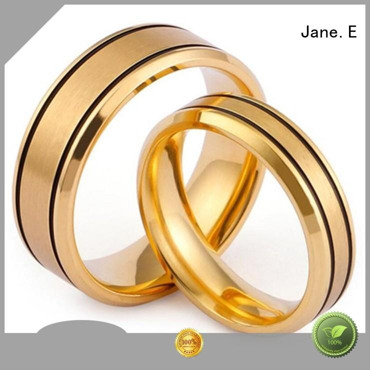 factory direct stainless steel wedding bands rose gold top quality for decoration