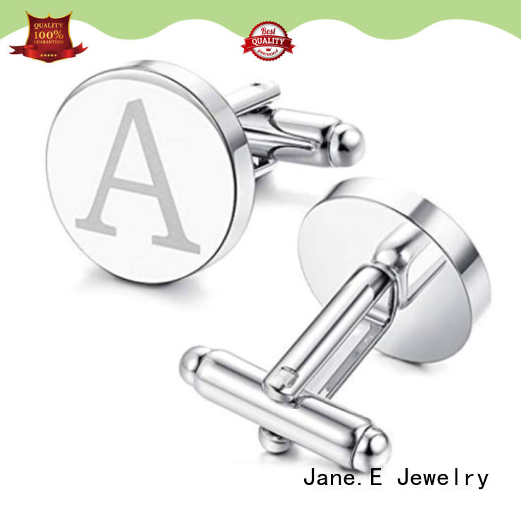 JaneE inlay stainless steel cufflink for gifts