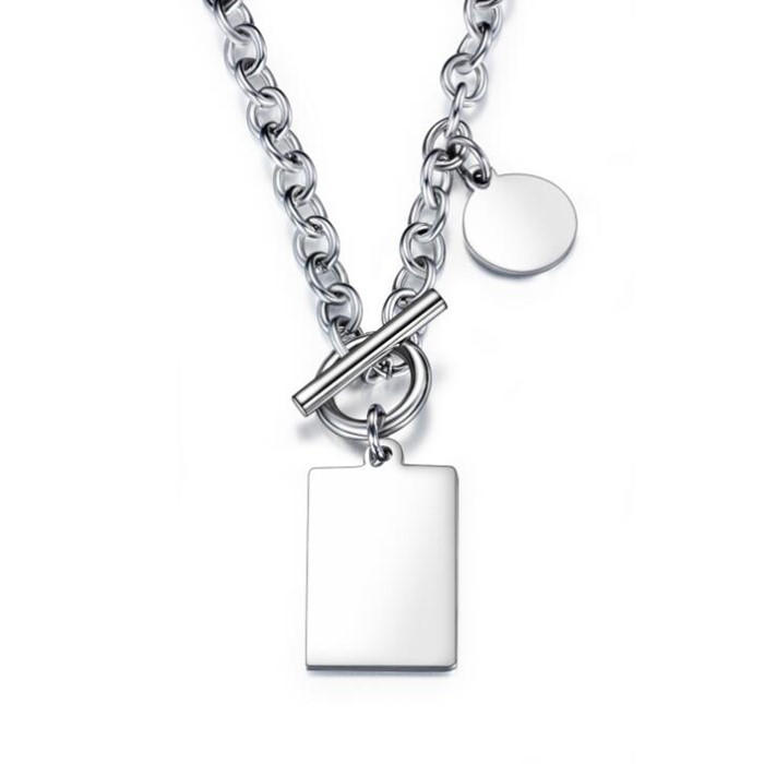 JaneE polished surface stainless necklace different dimension manufacturer-3