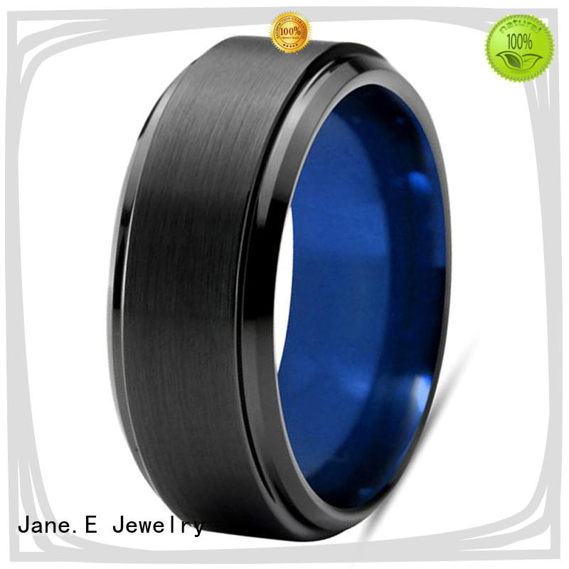 JaneE two tones 8mm tungsten carbide wedding band exquisite for wedding