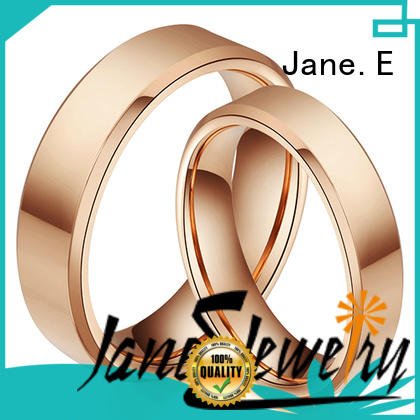 JaneE inlay brushed mens black tungsten wedding bands engraved for engagement