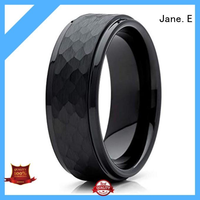 shiny polished tungsten carbide engagement rings meteorite engraved for engagement