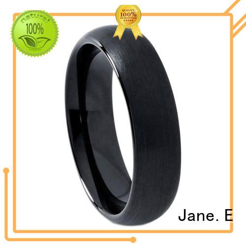 JaneE unique design tungsten carbide wedding bands matt for wedding