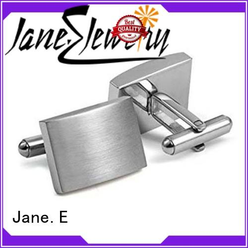 JaneE veneer initial cufflinks all sizes for gifts