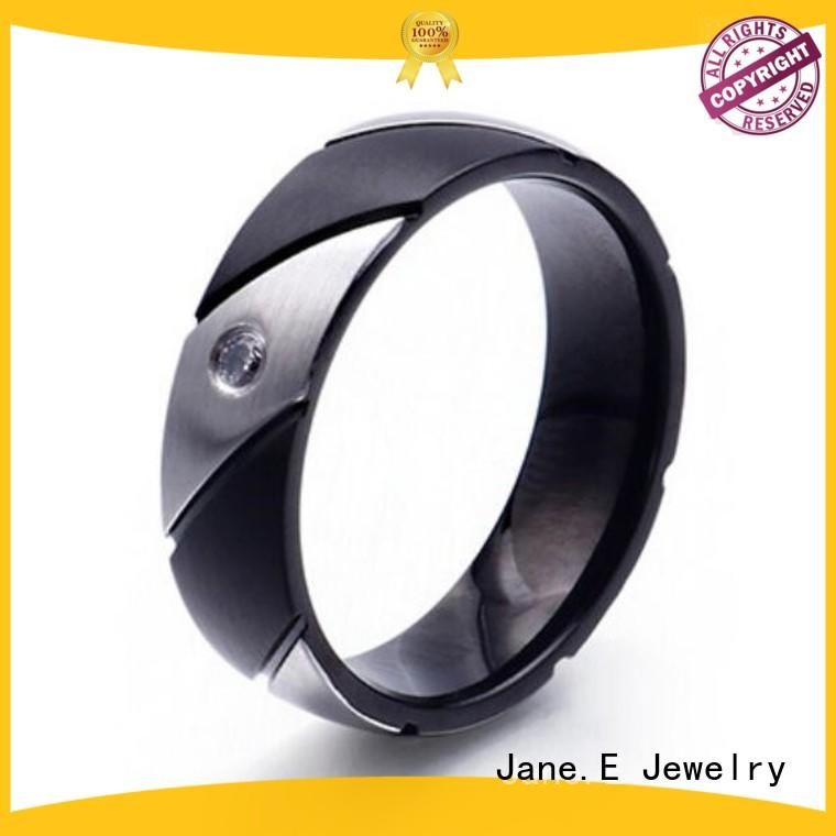 customized stainless steel rings for her blue multi colors for decoration