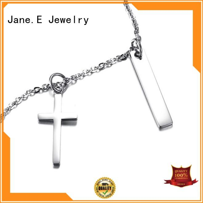 JaneE fragrant stainless steel diffuser necklace manual polished for gift