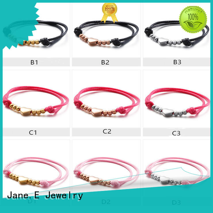manual polishing bracelet stainless steel customized for women JaneE