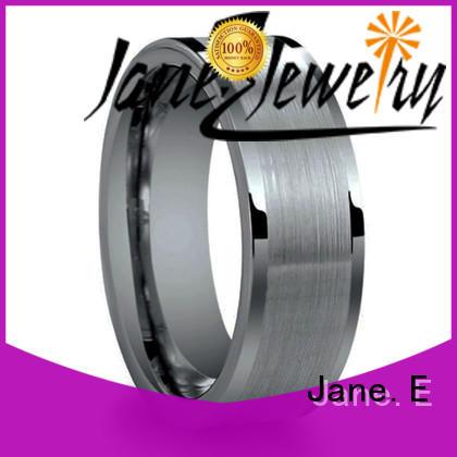 JaneE unique design womens tungsten wedding bands matt for gift