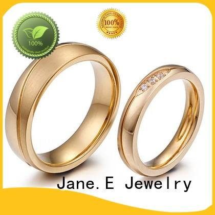 stainless steel cz rings plated for decoration JaneE