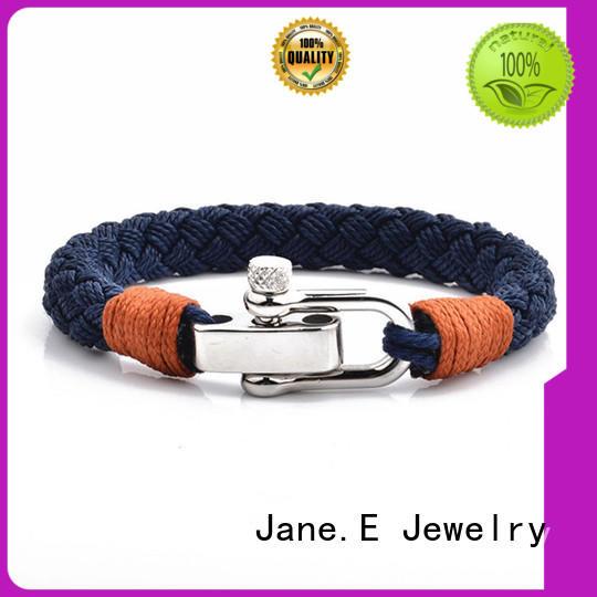 stainless steel cord rope bracelet custom made for women JaneE