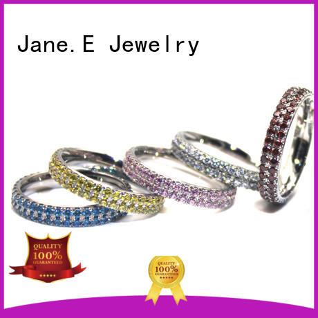 Surgical Stainless Steel Wedding Band with CNC AAA Cubic Zircon Stones