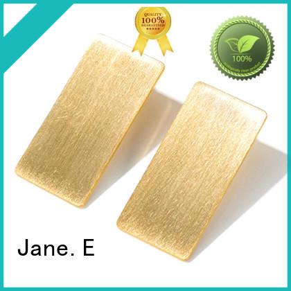 JaneE exquisite mens titanium hoop earrings classic style for girl