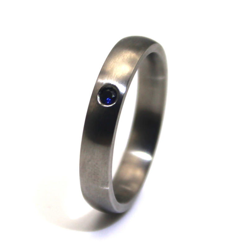 JaneE shiny stainless steel ring comfortable for weddings-3