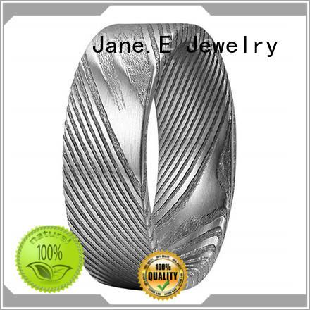 JaneE black custom rings comfort fit for weddings