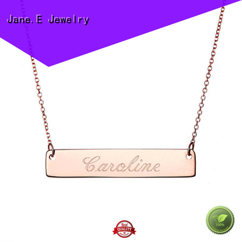 JaneE polished surface steel chain necklace factory direct for decoration
