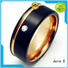 JaneE inlay brushed his and hers tungsten wedding bands matt for gift